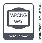 wrong way icon vector on white... | Shutterstock .eps vector #1262356003