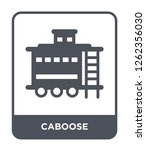 caboose icon vector on white background, caboose trendy filled icons from Transportation collection, caboose simple element illustration