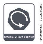 refresh curve arrows icon... | Shutterstock .eps vector #1262360353