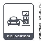 fuel dispenser icon vector on... | Shutterstock .eps vector #1262360443