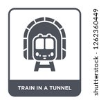 train in a tunnel icon vector... | Shutterstock .eps vector #1262360449
