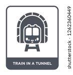 train in a tunnel icon vector...   Shutterstock .eps vector #1262360449