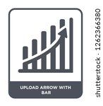 upload arrow with bar icon... | Shutterstock .eps vector #1262366380