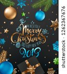 merry christmas and happy new...   Shutterstock .eps vector #1262367676