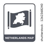 netherlands map icon vector on... | Shutterstock .eps vector #1262368240