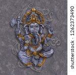 ganesh   hindu god lord of... | Shutterstock . vector #1262373490