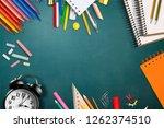 it is school time  top view... | Shutterstock . vector #1262374510