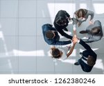 top view. positive business team | Shutterstock . vector #1262380246