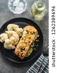 solomon fillet with pineapple... | Shutterstock . vector #1262389696