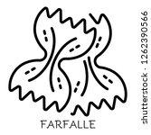 farfalle pasta icon. outline...   Shutterstock .eps vector #1262390566