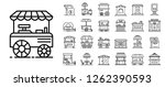 kiosk icon set. outline set of... | Shutterstock .eps vector #1262390593
