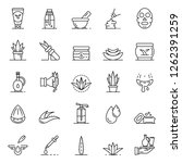 soothing icon set. outline set... | Shutterstock .eps vector #1262391259