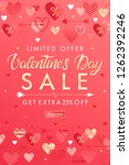 valentines day special offer... | Shutterstock .eps vector #1262392246