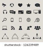 social media and computer... | Shutterstock . vector #126239489