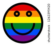 lgbt smiling face icon created...   Shutterstock .eps vector #1262395420