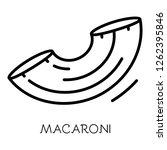 macaroni icon. outline macaroni ...   Shutterstock .eps vector #1262395846