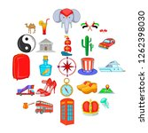 ramble icons set. cartoon set... | Shutterstock .eps vector #1262398030