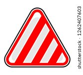 triangle hazard  attention ... | Shutterstock .eps vector #1262407603