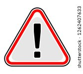 red attention sign triangular... | Shutterstock .eps vector #1262407633
