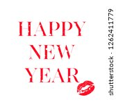 vector happy 2019 phrase with a ... | Shutterstock .eps vector #1262411779