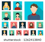 avatar and face flat icons in... | Shutterstock .eps vector #1262413840