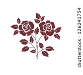 two dark  roses on white | Shutterstock .eps vector #126241754