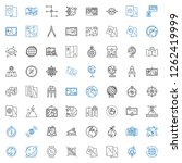 geography icons set. collection ... | Shutterstock .eps vector #1262419999