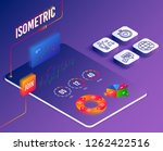 isometric vector. set of... | Shutterstock .eps vector #1262422516