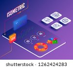 isometric vector. set of idea ... | Shutterstock .eps vector #1262424283