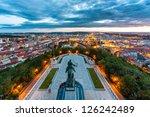 Equestrian Statue Above Prague...