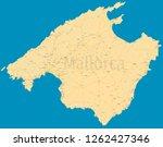 mallorca political map. high... | Shutterstock .eps vector #1262427346