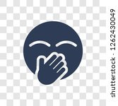 hand over mouth emoji icon.... | Shutterstock .eps vector #1262430049