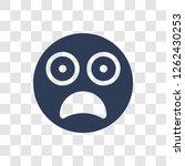 scared emoji icon. trendy...   Shutterstock .eps vector #1262430253
