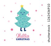 colorful christmas vector card. ... | Shutterstock .eps vector #1262436910