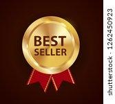 gold label best seller. vector... | Shutterstock .eps vector #1262450923