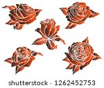 graphic detailed stylized dark... | Shutterstock .eps vector #1262452753