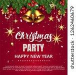 invitation merry christmas... | Shutterstock .eps vector #1262460679