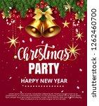 invitation merry christmas... | Shutterstock .eps vector #1262460700
