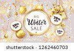 vector winter christmas sale... | Shutterstock .eps vector #1262460703