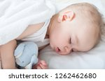 beautiful baby boy laying down... | Shutterstock . vector #1262462680