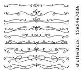 collection of handdrawn swirls... | Shutterstock .eps vector #1262467036
