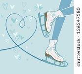 vector background with feet in... | Shutterstock .eps vector #126247580