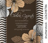 invitation or wedding card with ... | Shutterstock .eps vector #126248786