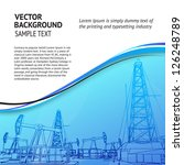 oil rig banner for your text.... | Shutterstock .eps vector #126248789