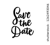 save the date. wedding hand... | Shutterstock .eps vector #1262493046