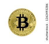 Yellow Bitcoin Coin With A...
