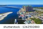 Aerial View Of Destin Cityscape ...