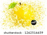 yellow apple fresh juice.... | Shutterstock .eps vector #1262516659