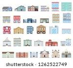 buildings set. buildings set.... | Shutterstock . vector #1262522749