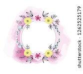 spring summer floral wreath... | Shutterstock . vector #1262525179